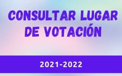 Consultar lugar de votación